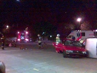 Verkehrsunfall - Demonstrationsübung Feuerwehr Schwyz